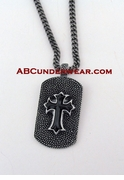 Dog Tag Cross Necklace