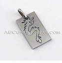 Dragon Dog Tag Necklace