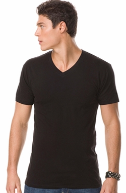 Fashion Slim Fit V-Neck Short Sleeve T-shirt