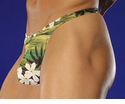 Green Hawaiian Men's Thong