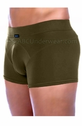 Gregg Contoured Microfiber Trunk Underwear - Olive Army Green