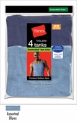 Hanes Dyed Tank Tops - Blues 4 pack