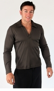 Johnny Collar Rib Long Sleeve Shirt