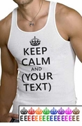 Keep Calm and [Blank] Ribbed Tank