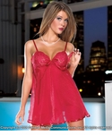 Lace & Sheer Babydoll & G-String
