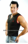 Laceup Black Muscle Shirt