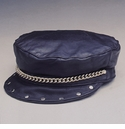 Leather Hat with Chain