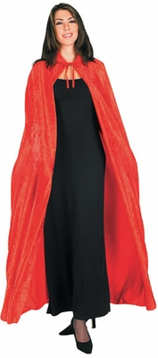 Long Red Velvet Cape