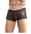 Male Power Embedded Skull Short
