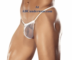 Male Power Posing Strap Stretch Net G-String