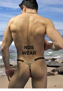 Men's Chain Back Thong in Black