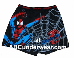 Men's Spiderman Boxers Large