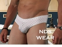 Men's White With Pink Dots Brief
