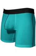 Mens Stretch Cotton Pouch Boxer Briefs Underwear - Blue Atoll