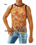 Multi-Color Net Muscle Shirt
