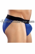 Mustang Blue Ribbed String Bikini