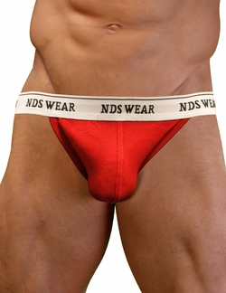 NDS Wear Cotton Mesh Jockstrap Red