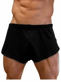 NDS Wear Mens Cotton Mesh Side Split Short Black