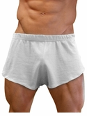NDS Wear Mens Cotton Mesh Side Split Short White