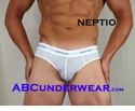 Neptio White Athletic Mesh Brief