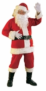 New Flannel Santa Suit Costume