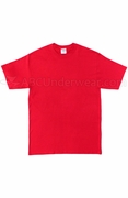 Night Shirt, Tall Cotton T-Shirt - Red
