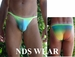 Rainbow Open Side Bikini