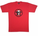 Red T-Shirt with Skull Inside Star