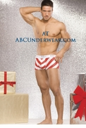 Santa Stripe Boxer Brief - Clearance