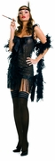 Sequined Flapper Dress with Bows Costume - Clearance