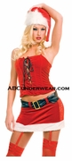 Sexy 2pc Miss Santa Outfit with Hat - Closeout
