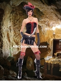 Sexy Gothic Lace Up Pirate Costume-Clearance