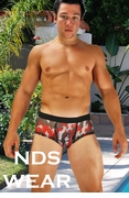 Sheer Red Camo Pouch Trunk