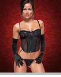 Sparkle Mesh Bustier with G-String Set