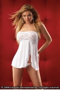 Strapless Babydoll and Thong Set
