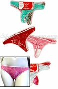 Stretch Lace Womens Thong Assorted 2 Pack