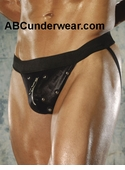 Studded Zipper Jockstrap