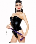 Vamp Bustier and Thong Costume