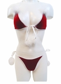 Velvet and Marabou Bikini Set - Clearance