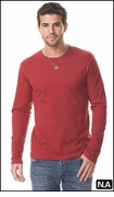 VINTAGE MEN'S FITTED CREW NECK LS SHIRT