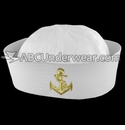 White Sailor Hat with Emblem