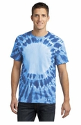 Window Tie Dye T-shirt Royal Blue