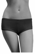 Womens Cotton Spandex Brief Short - Black
