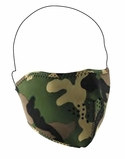 Woodland Camo Neoprene Half Face Mask