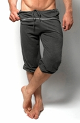 YMLA Mens Pilates Shorts - Charcoal Gray