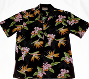 138 Hawaiian shirt Colorful black, M-2XL