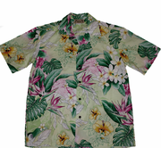 146 Hawaii shirt Colorful Yellow, M-2XL