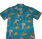184 Hawaii shirt Colorful blue, M-2XL