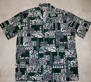 197 Hawaii shirt Green sea turtle, M-2XL