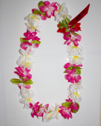 #27 Pink-Yellow-White, Simple Lei